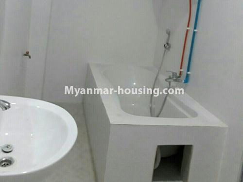 Myanmar real estate - for rent property - No.4575 - Furnished condominium room near Inya Lake for rent in Hlaing! - bathroom view