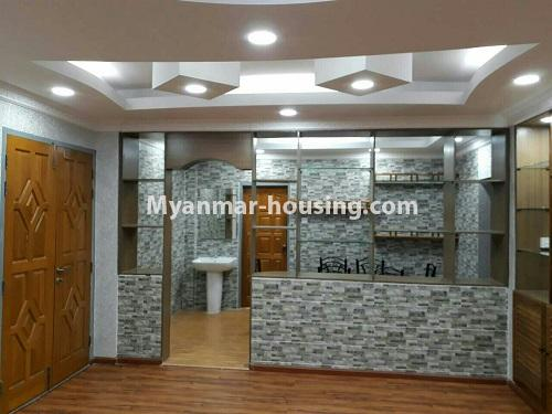 Myanmar real estate - for rent property - No.4575 - Furnished condominium room near Inya Lake for rent in Hlaing! - living room and kitchen partition