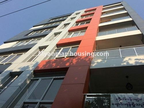 Myanmar real estate - for rent property - No.4575 - Furnished condominium room near Inya Lake for rent in Hlaing! - building view