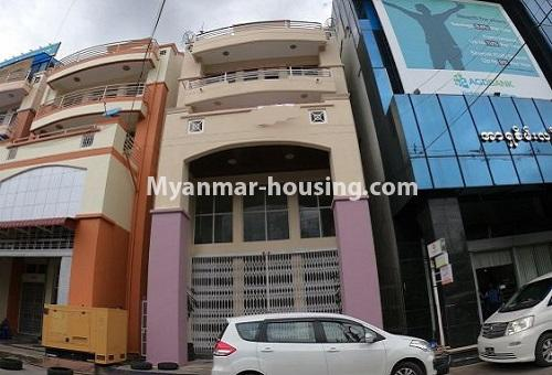 Myanmar real estate - for rent property - No.4576 - Shop House for rent in U Chit Maung Housing, Tarmway! - building view
