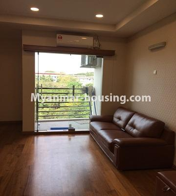 Myanmar real estate - for rent property - No.4577 - Nice furnished Diamond Crown Condominium room for rent in Dagon! - living room view
