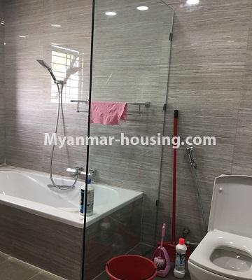Myanmar real estate - for rent property - No.4577 - Nice furnished Diamond Crown Condominium room for rent in Dagon! - bathroom 1 view