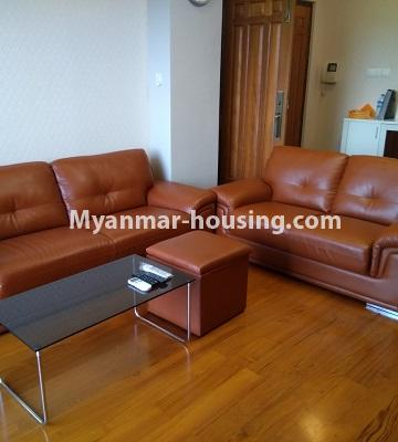 Myanmar real estate - for rent property - No.4577 - Nice furnished Diamond Crown Condominium room for rent in Dagon! - anothr view of living room