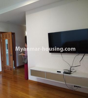 Myanmar real estate - for rent property - No.4577 - Nice furnished Diamond Crown Condominium room for rent in Dagon! - another living room view