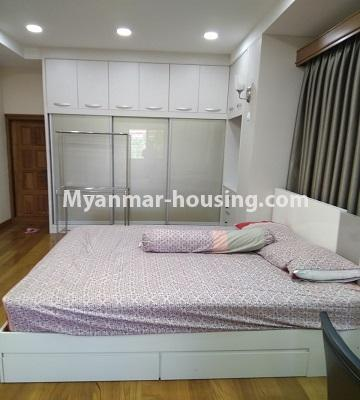 Myanmar real estate - for rent property - No.4577 - Nice furnished Diamond Crown Condominium room for rent in Dagon! - master bedroom view