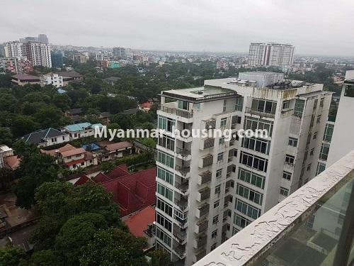 Myanmar real estate - for rent property - No.4584 - High floor Shwe Hin Thar Condominium room for rent in Hlaing! - another outside view