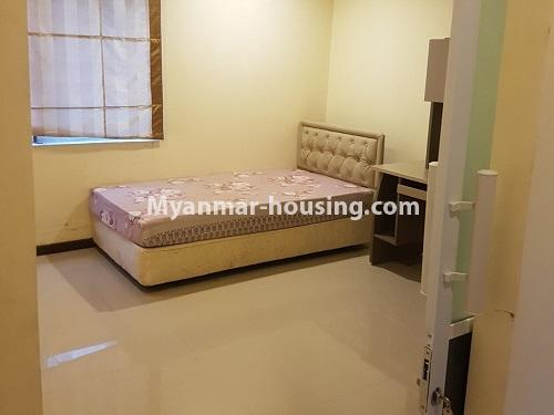 Myanmar real estate - for rent property - No.4584 - High floor Shwe Hin Thar Condominium room for rent in Hlaing! - single bedroom view