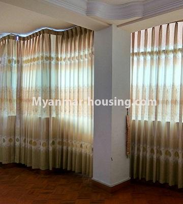 Myanmar real estate - for rent property - No.4586 - Furnished Lamin Thar Yar Condominium room for rent in Mingalar Taung Nyunt! - anothr view of living room