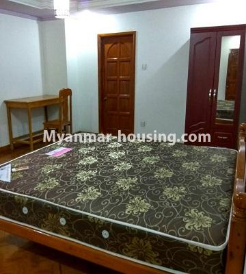 Myanmar real estate - for rent property - No.4586 - Furnished Lamin Thar Yar Condominium room for rent in Mingalar Taung Nyunt! - master bedroom view