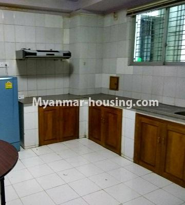 Myanmar real estate - for rent property - No.4586 - Furnished Lamin Thar Yar Condominium room for rent in Mingalar Taung Nyunt! - kitchen view