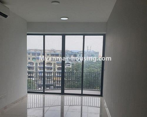 Myanmar real estate - for rent property - No.4588 - Kan Thar Yar Residential Condominium room for rent near Kan Daw Gyi Park! - anothr view of living room