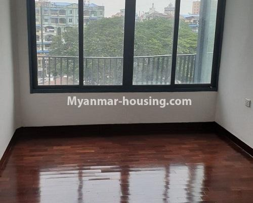 Myanmar real estate - for rent property - No.4588 - Kan Thar Yar Residential Condominium room for rent near Kan Daw Gyi Park! - bedroom 1 view