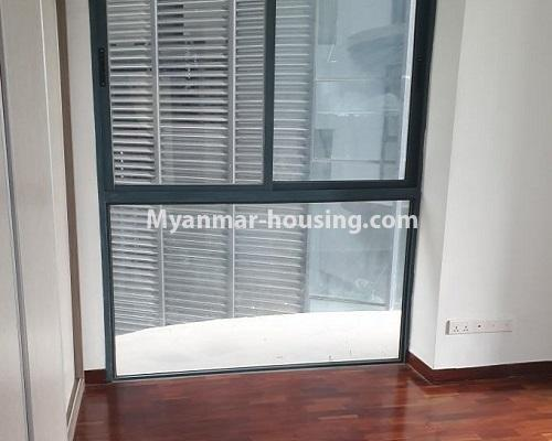 Myanmar real estate - for rent property - No.4588 - Kan Thar Yar Residential Condominium room for rent near Kan Daw Gyi Park! - bedroom 2 view
