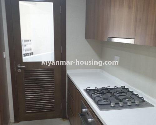 Myanmar real estate - for rent property - No.4588 - Kan Thar Yar Residential Condominium room for rent near Kan Daw Gyi Park! - kitchen view