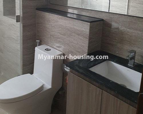 Myanmar real estate - for rent property - No.4588 - Kan Thar Yar Residential Condominium room for rent near Kan Daw Gyi Park! - bathroom 1 view