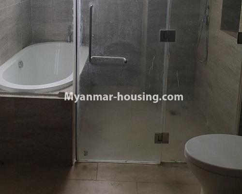 Myanmar real estate - for rent property - No.4588 - Kan Thar Yar Residential Condominium room for rent near Kan Daw Gyi Park! - bathroom 2 view
