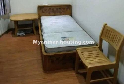 Myanmar real estate - for rent property - No.4613 - Furnished three bedroom condominium room for rent near Hledan Junction! - single bedroom view