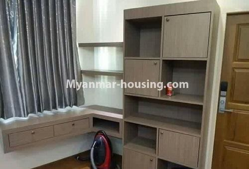 Myanmar real estate - for rent property - No.4613 - Furnished three bedroom condominium room for rent near Hledan Junction! - another single bedroom