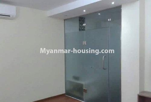 Myanmar real estate - for rent property - No.4613 - Furnished three bedroom condominium room for rent near Hledan Junction! - room space