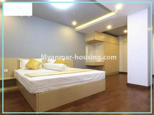 Myanmar real estate - for rent property - No.4614 - One bedroom Sein Lae Aung condominium room for rent in Yankin! - master bedroom view