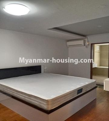 Myanmar real estate - for rent property - No.4615 - Two bedroom Sein Lae Aung condominium room for rent in Yankin! - master bedroom view