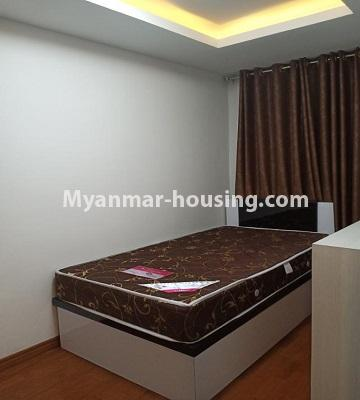 Myanmar real estate - for rent property - No.4615 - Two bedroom Sein Lae Aung condominium room for rent in Yankin! - single bedroom view