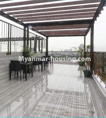 Myanmar real estate - for rent property - No.4615 - Two bedroom Sein Lae Aung condominium room for rent in Yankin! - relaxational area