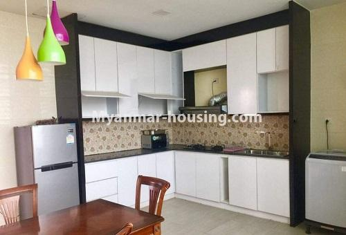 Myanmar real estate - for rent property - No.4617 - Pent House with a panoramic view for rent near Inya Lake! - kitchen view
