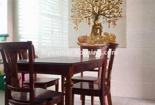 Myanmar real estate - for rent property - No.4617 - Pent House with a panoramic view for rent near Inya Lake! - dining area view