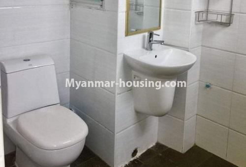 Myanmar real estate - for rent property - No.4617 - Pent House with a panoramic view for rent near Inya Lake! - bathroom view