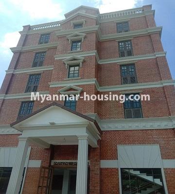 မြန်မာအိမ်ခြံမြေ - ငှားရန် property - No.4651 - မြောက်ဒဂုံတွင် အိပ်ခန်း ဆယ့်ရှစ်ခန်းပါသော ခြောက်ထပ်တိုက် ငှားရန်ရှိသည်။another view of building