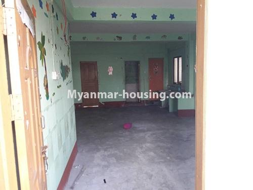 Myanmar real estate - for rent property - No.4661 - First floor hall type room for rent in Hlaing! - inside view from main door