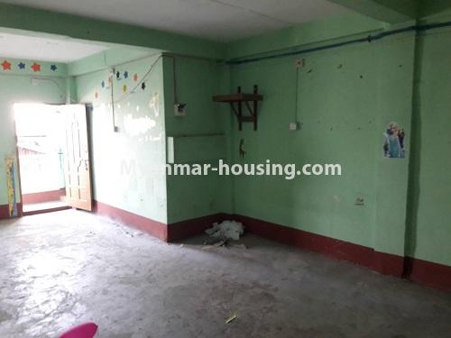 Myanmar real estate - for rent property - No.4661 - First floor hall type room for rent in Hlaing! - living room view