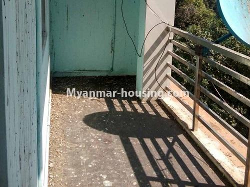 Myanmar real estate - for rent property - No.4661 - First floor hall type room for rent in Hlaing! - balcony view