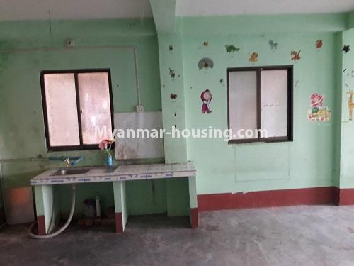 Myanmar real estate - for rent property - No.4661 - First floor hall type room for rent in Hlaing! - kitchen view