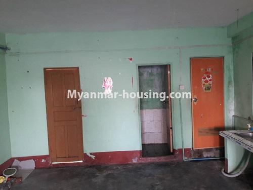Myanmar real estate - for rent property - No.4661 - First floor hall type room for rent in Hlaing! - bathroom and toilet door view