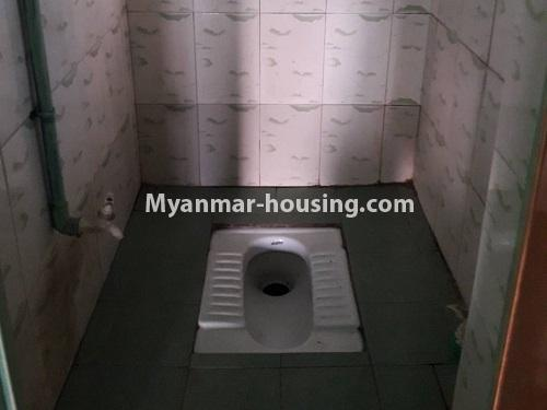 Myanmar real estate - for rent property - No.4661 - First floor hall type room for rent in Hlaing! - toilet