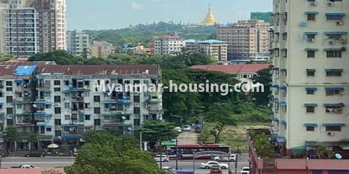 မြန်မာအိမ်ခြံမြေ - ငှားရန် property - No.4684 - ကြည့်မြင်တိုင်တွင် ရွေှဂုံသူကွန်ဒိုခန်း ငှားရန်ရှိသည်။building view and road view