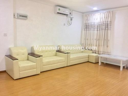 Myanmar real estate - for rent property - No.4741 - Furnished 2BHK Royal Thukha condominium for rent in Hlaing! - living room view
