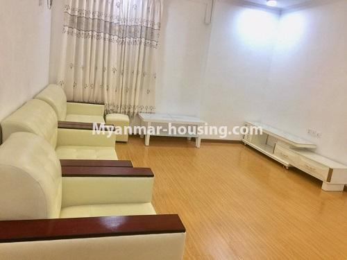 Myanmar real estate - for rent property - No.4741 - Furnished 2BHK Royal Thukha condominium for rent in Hlaing! - anothr view of living room