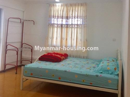 Myanmar real estate - for rent property - No.4741 - Furnished 2BHK Royal Thukha condominium for rent in Hlaing! - another bedroom view