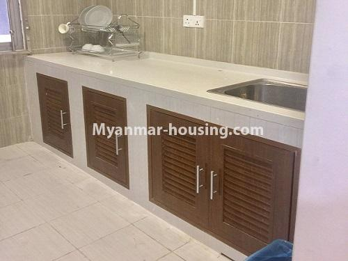 Myanmar real estate - for rent property - No.4741 - Furnished 2BHK Royal Thukha condominium for rent in Hlaing! - kitchen view
