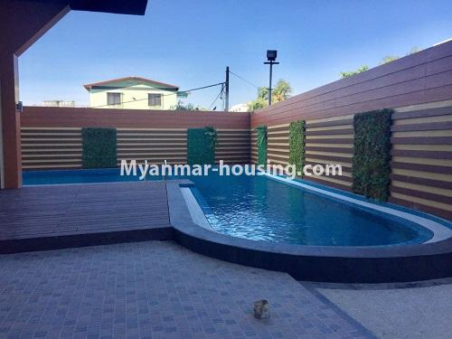 Myanmar real estate - for rent property - No.4741 - Furnished 2BHK Royal Thukha condominium for rent in Hlaing! - swimming pool view