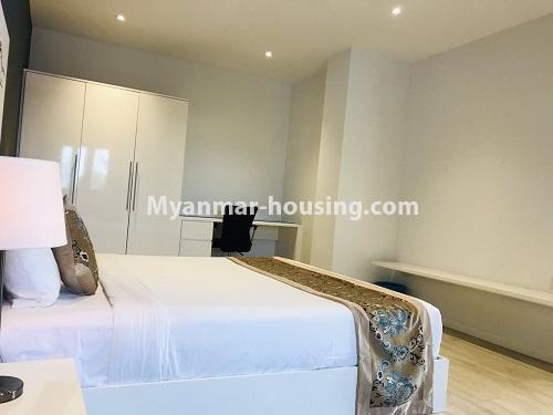 Myanmar real estate - for rent property - No.4742 - One bedroom serviced apartment for rent in Bahan! - another view of bedroom