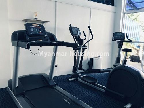 Myanmar real estate - for rent property - No.4742 - One bedroom serviced apartment for rent in Bahan! - another view of gym