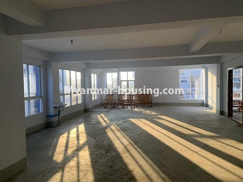 Myanmar real estate - for rent property - No.4743 - Large office room for rent on Kyeemyintdaing Road. - hall view