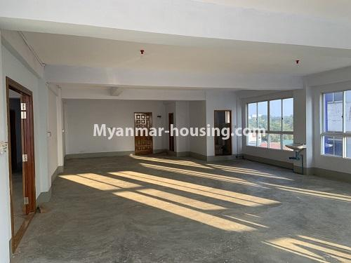 Myanmar real estate - for rent property - No.4743 - Large office room for rent on Kyeemyintdaing Road. - another hall view