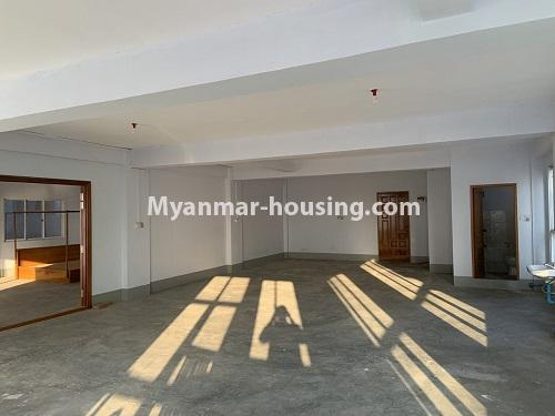 Myanmar real estate - for rent property - No.4743 - Large office room for rent on Kyeemyintdaing Road. - another view of hall