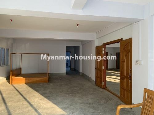 Myanmar real estate - for rent property - No.4743 - Large office room for rent on Kyeemyintdaing Road. - bedroom view
