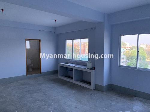 Myanmar real estate - for rent property - No.4743 - Large office room for rent on Kyeemyintdaing Road. - kitchen area view